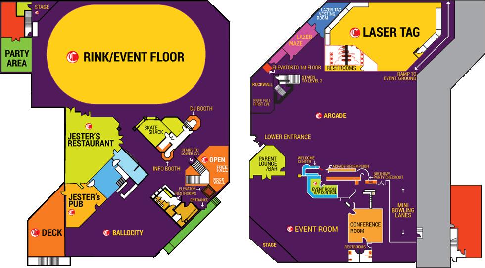 castle-fun-center-map