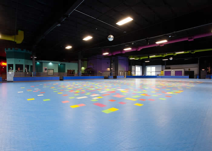 Roller Skating The Castle Fun Center - Roller skating rink flooring for sale