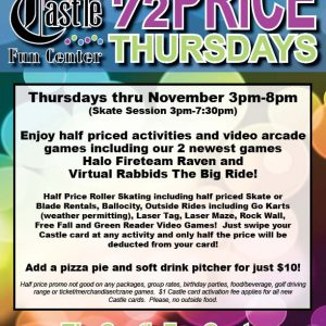 Half Priced Thursdays in November @ The Castle Fun Center | Chester | New York | United States