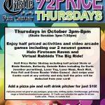 Half Price Thursdays October 2018 The Castle Fun Center