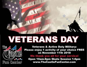 Veterans Day @ The Castle Fun Center | Chester | New York | United States