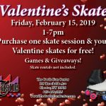 valentines day 2019 roller skating at the castle fun center