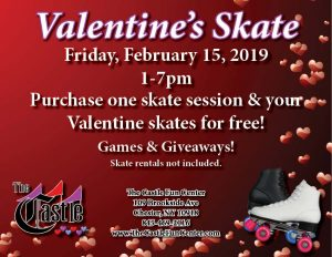 Feb. 15 Valentines Skate @ The Castle Fun Center | Chester | New York | United States