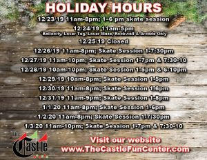 holiday-hours-the-castle-2019