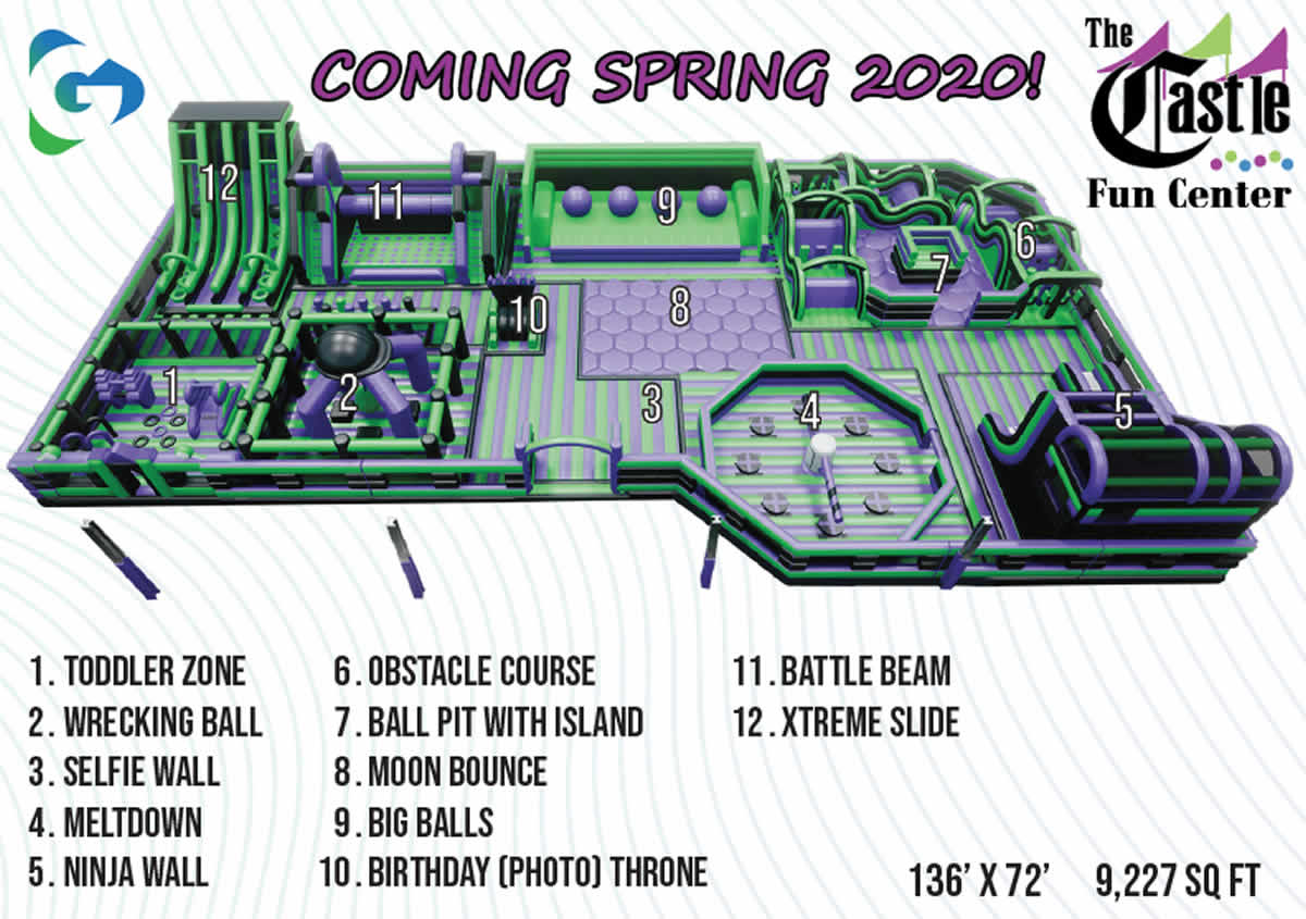 The Castle Fun Center Inflatapark Coming 2020